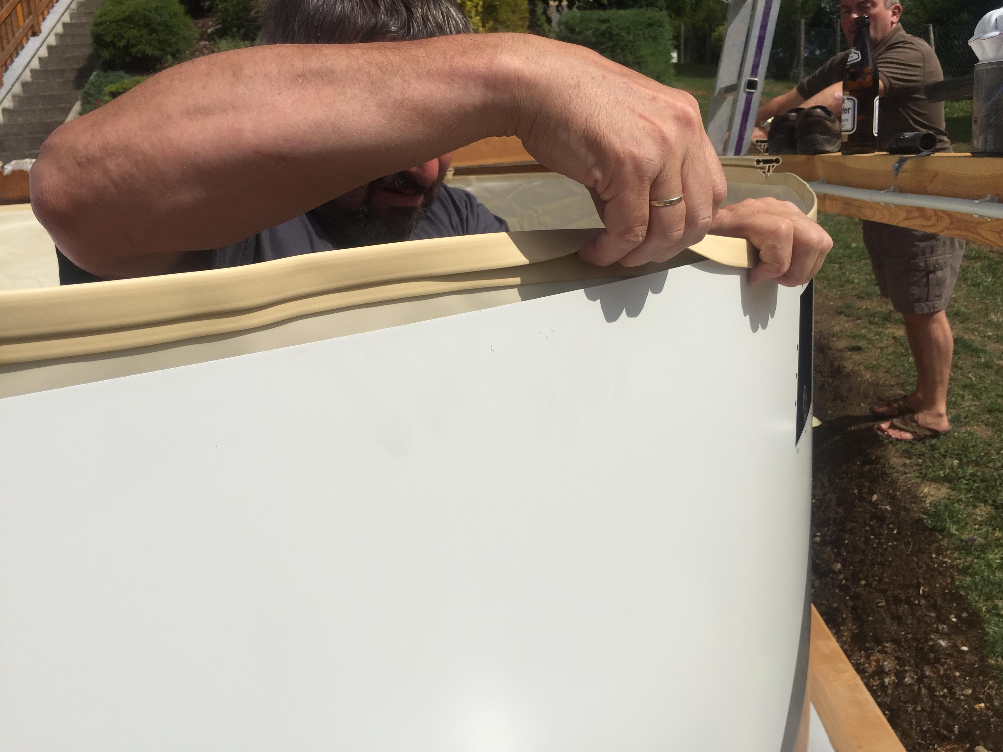 Rundpool prime 450 x 135 cm komplettset apoolco for Poolfolie montieren