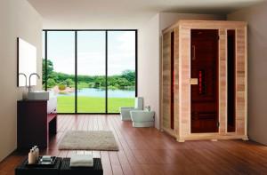 Infrarotkabine Classico 2, 150x100x195 cm, 3 Personen