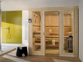 Sauna Finesse, ab 129x129x202 cm, 3 Personen