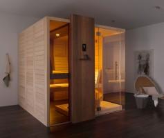 Sauna Edge, 210x210x219 cm, 3 - 4 Personen