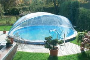 Cabrio Dome, rund, Ø 600 cm für schmalen Handlauf
