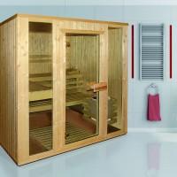 Sauna Aaro Komplettset, ab 195x162 cm, 2 Personen- Helo