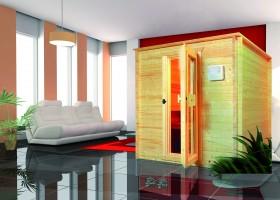 Sauna Salo Komplettset 210x210x200 cm, 3 Personen