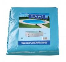 Poolfolie rund, 300 x 90 cm, 0,60 mm, mit Biese, blau