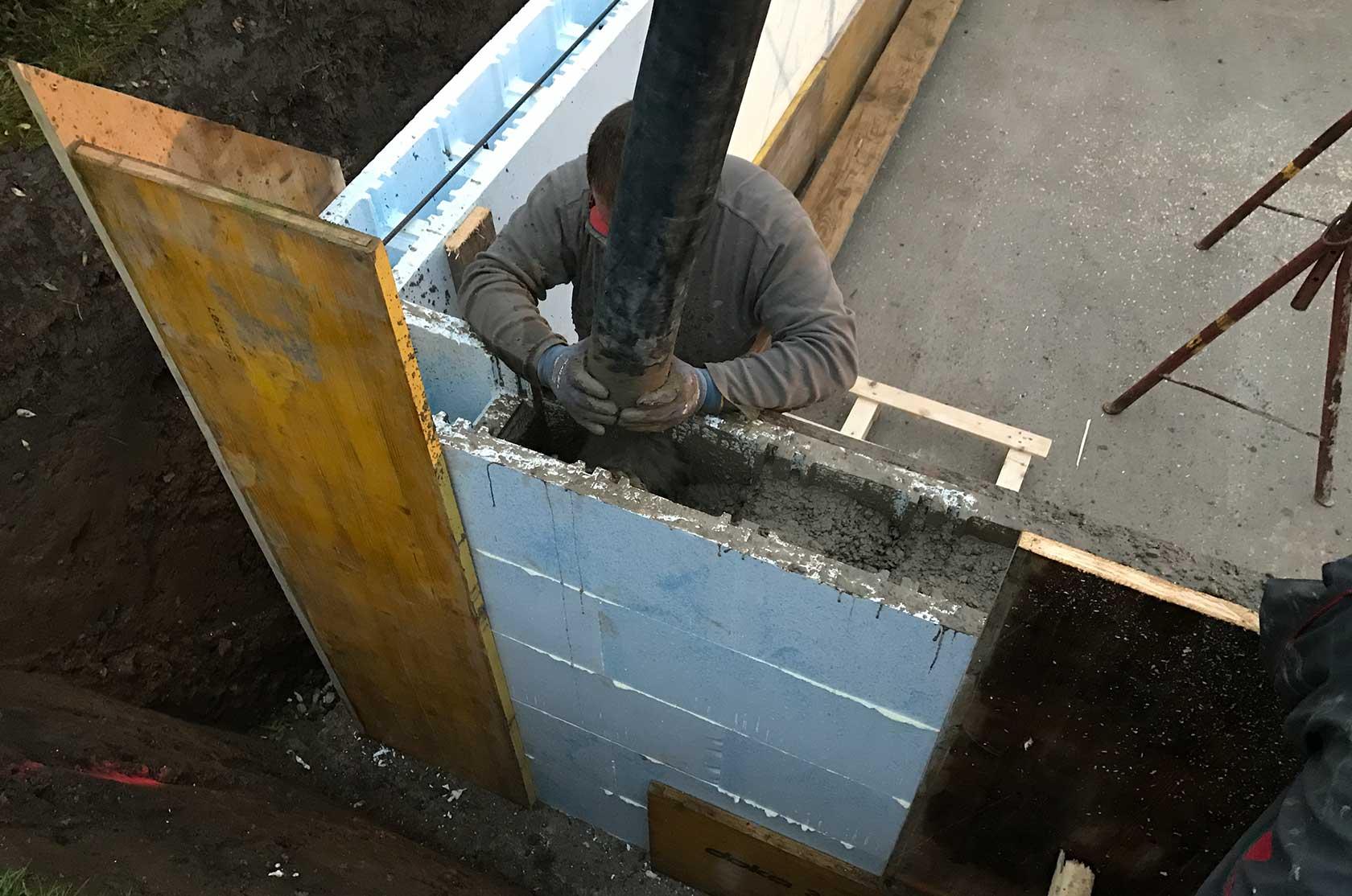 Styroporpool 800x400x150cm mit treppe zum selbstbau - Betonpool bauen ...
