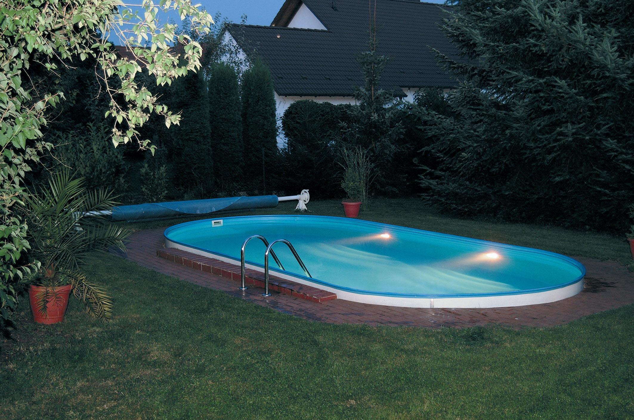 Stahlwandpool versenken for Stahl pool eckig