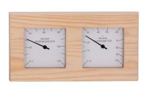 Thermo-Hygrometer Nadelholz, geteilt