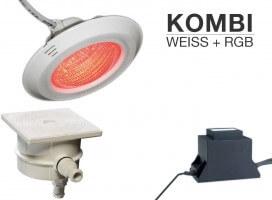 2er Scheinwerfer-Set, Kombi weiß/RGB, Komplettset