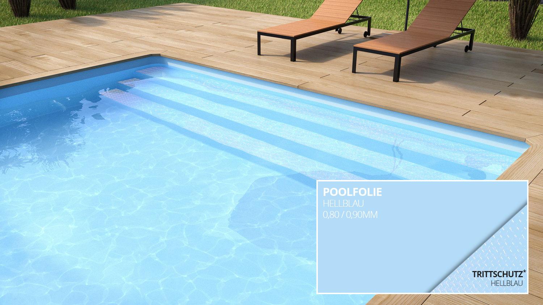 96 poolfolie grau graue poolfolie rechteck for Poolfolie farbe