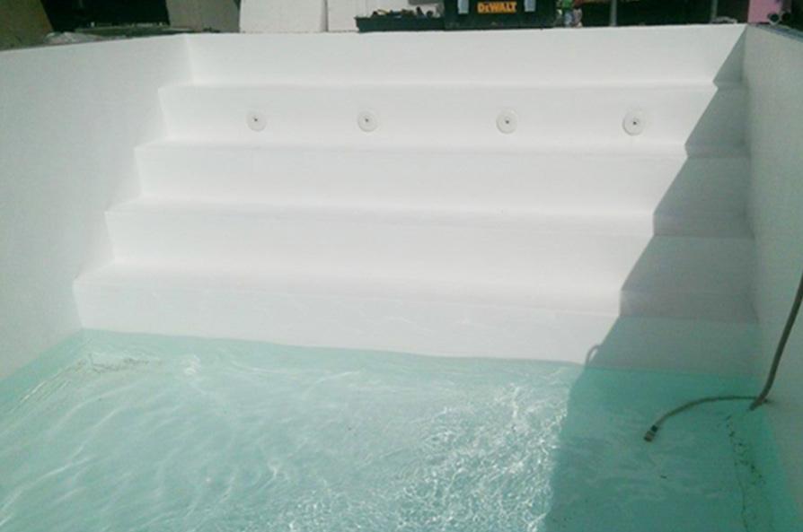 Styroporpool 8 x 4 x 1 5 m komplettset mit ecktreppe for Poolfolie montieren