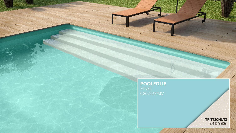 Styroporpool 800x400x150cm mit treppe zum selbstbau for Swimming pool folie erneuern