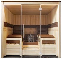 """Sauna Mocca """"Exklusiv"""", 201x201x212 cm, 4 Personen"""