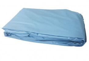 Poolfolie rund, 350 x 90-100 cm, 0,40 mm, überlappend, blau