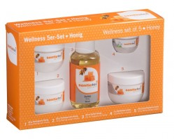Wellness 5-er Set, Honig