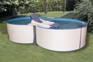 Achtformpool Trend 432 x 250 x 120 cm, Komplettset mit Sandfilteranlage