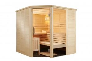 Sauna Alaska Corner, 206x206x204 cm, 3 Personen