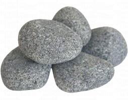 Runde Saunasteine 15 kg, Körnung bis 5 - 10 cm